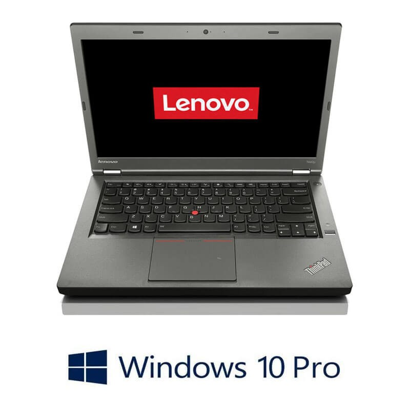 Laptop Refurbished Lenovo ThinkPad T440p, Intel Core i7-4600M, Win 10 Pro