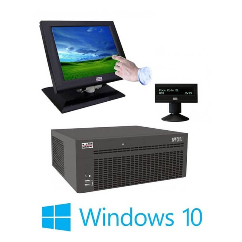 Sistem POS Refurbished Wincor Beetle M-II Plus G41, Touch BA73A-2, Display Client, Win 10 Home