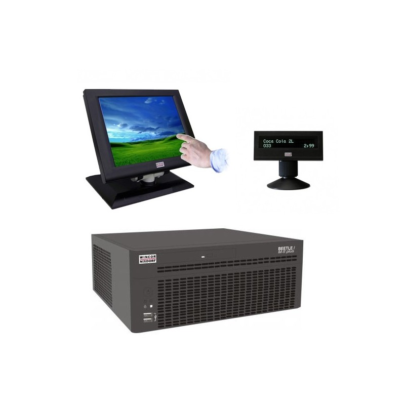 Sistem POS Wincor Beetle M-II Plus G41, Touchscreen BA72 12 inch, display client BA63