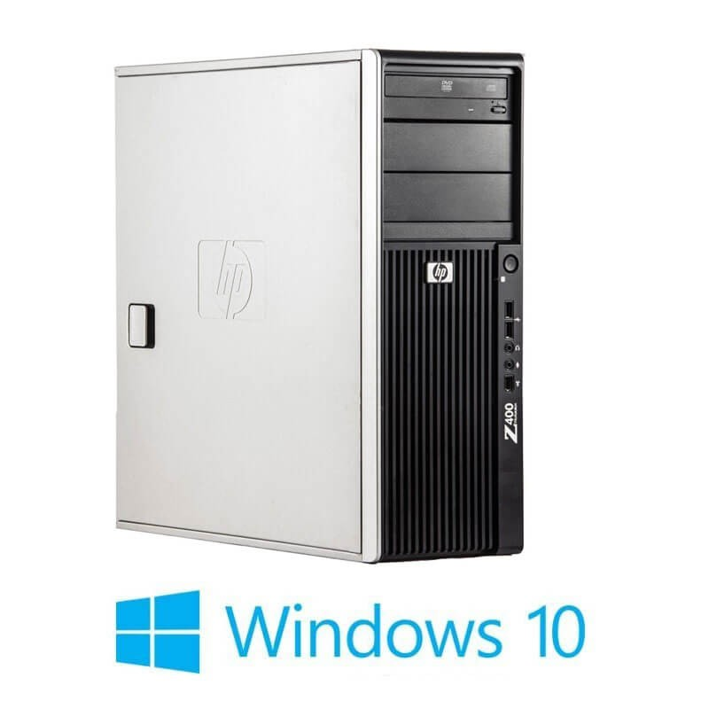 Workstation Refurbished HP Z400, Hexa Core X5650, GeForce 605 DP, Win 10 Home