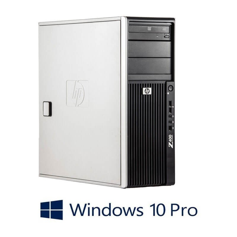Workstation Refurbished HP Z400, Hexa Core X5650, GeForce 605 DP, Win 10 Pro